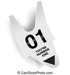 You Are Number One Ticket Concept for Print or Web