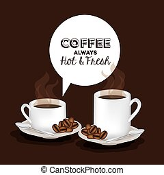 Coffee design, vector illustration - Coffee design brown...