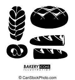 Bakery design, vector illustration. - Bakery design white...