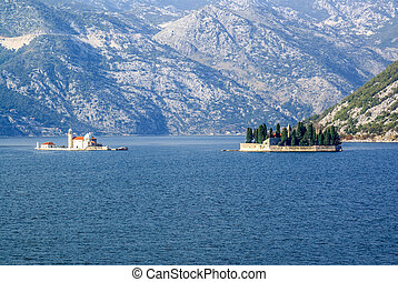 Our Lady of the Rocks Island and Saint George Island,Montenegro