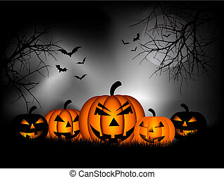 Halloween background - Spooky Halloween background with...