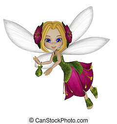 Fairy - 3d illustration isolated on the white background