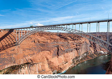Glen Canyon Dam Bridge over Colorado near Page, Arizona
