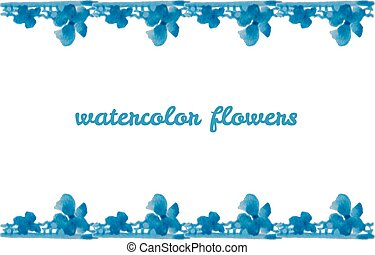 Watercolor design element for the realization - Watercolor...