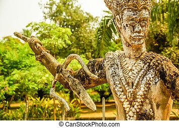 Statue in Ventiane,Laos