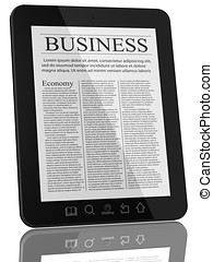 Business News on Tablet PC Computer