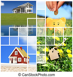 Buying home collage