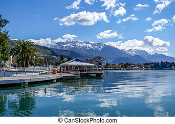 Boardwalk in Tivat, Montenegro
