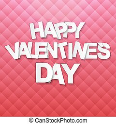 Happy Valentines Day Card. Vector Illustration