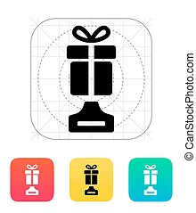 Best gift icon on white background Vector illustration