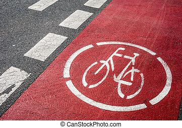 Bikeway - symbol for a bikeway on the ground