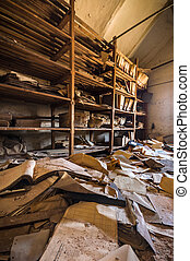 Forgotten documents - old forgotten documents in an...