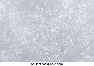 snow surface - Stucture of snow surface (background)