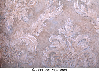 vintage wallpaper with vignette victorian pattern - Detail...