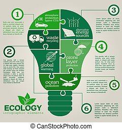 Environment, ecology infographic elements Environmental...