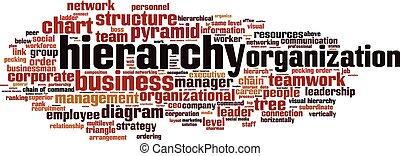 Hierarchy word cloud concept. Vector illustration