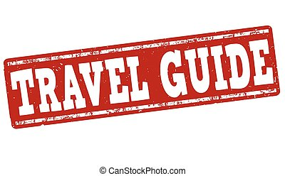 Travel guide stamp - Travel guide grunge rubber stamp on...