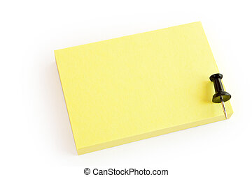 blank post-it note on white