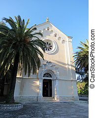 Catholic Church Saint Jerome in Herceg Novi, Montenegro -...