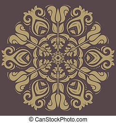 Damask Vector Pattern Orient Ornament - Damask vector floral...