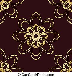 Floral Seamless Vector Pattern Orient Abstract Floral...