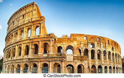 The Colosseum, Rome - Exterior of the Colosseum in Rome,...