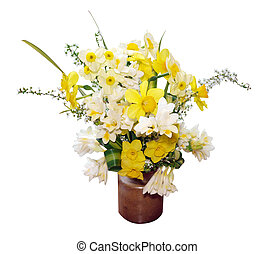 Spring Bouquet isolated with clipping path