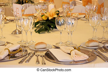 wedding celebration - Fancy table set for a wedding...