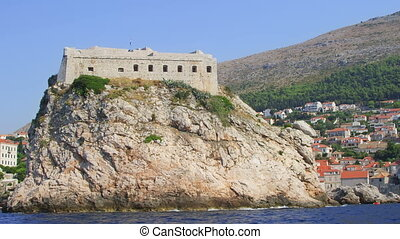 Dubrovni fortress St Lawrence - Dubrovnik old town walls -...