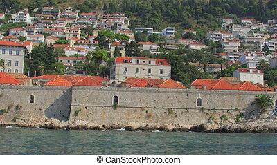 Dubrovnik old town harbor quarantine Lazareti. Croatia.