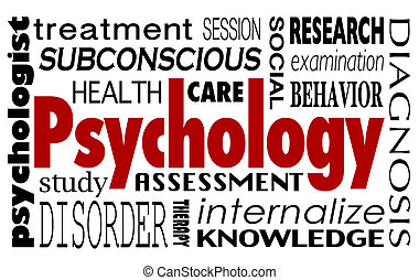Psychology Word Collage Treatment Therapy Mental Illness...