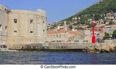 Dubrovnik Porporela - St John fortress at the east entrance...