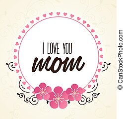 Mom design, vector illustration. - Mom design over white...