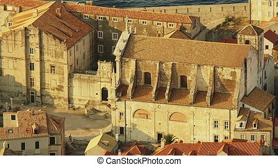 Dubrovnik Jesuit church - Dubrovnik old town panorama with...