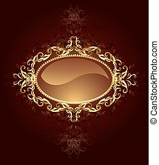 oval jewelry banner - oval banner are decorated in jewelry,...