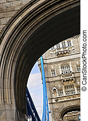 Tower bridge in London - Tower bridge arches detail in...