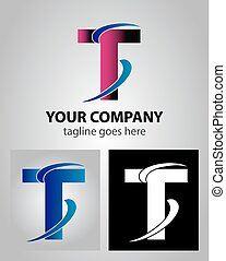 Abstract icon logo for letter T