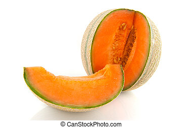 Cantaloupe melon - Fresh and ripe Cantaloupe melon in pieces