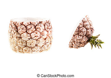 pineapple shaped ceramic container - a pineapple shaped...