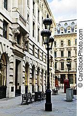 London street - Old buildings on pedestrian street in city...