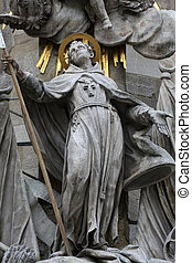 Saint John of Capistrano. Sculpture of on the cathedral in...