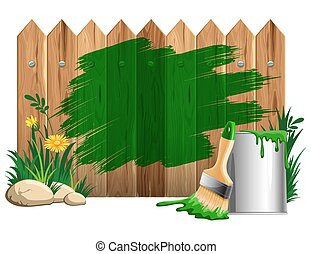 Paint smears - Vector background of thick green paint smears...