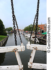view from the bridge - View from the old historic bridge in...