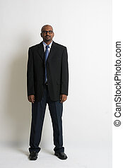 Indian business man on formal wear full body