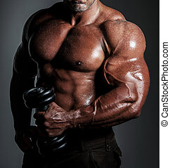 Bodybuilder posing - bodybuilder posing Handsome power...