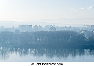 Novi Sad Cityscape - Cityscape line of Novi Sad, capital...