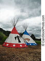 Two tipi for Indian camp