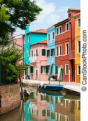 Burano is an island in the Venetian Lagoon, northern Italy