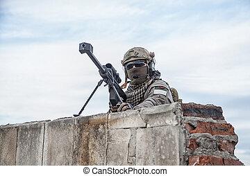 U,  s, 軍隊, 狙撃兵