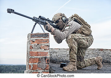 US Army sniper during the military operation